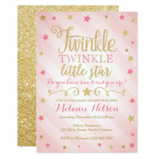 Baby Shower Little Star Invitations Announcements Zazzle