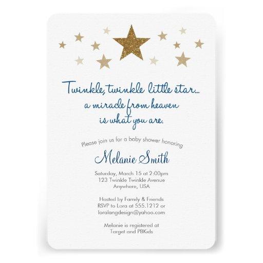 twinkle twinkle little star baby shower invitation 161268483181646264