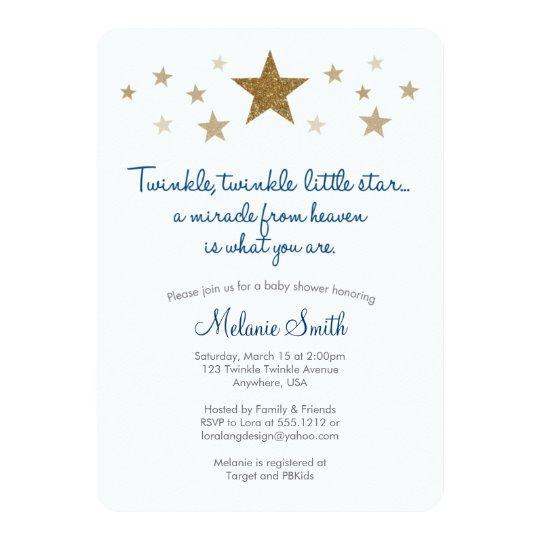 Superb Twinkle Twinkle Little Star Baby Shower Invitation