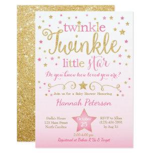 image regarding Free Printable Twinkle Twinkle Little Star Baby Shower Invitations named Twinkle Twinkle Tiny Star Kid Shower Invitation