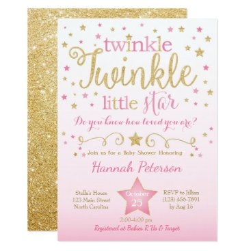 YourMainEvent Twinkle Twinkle Little Star Baby Shower Invitation