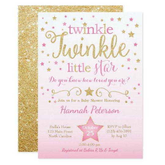 Twinkle twinkle little star baby shower invitation zazzle twinkle twinkle little star baby shower invitation filmwisefo