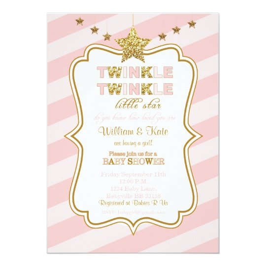Twinkle Twinkle little star baby shower invitation | Zazzle