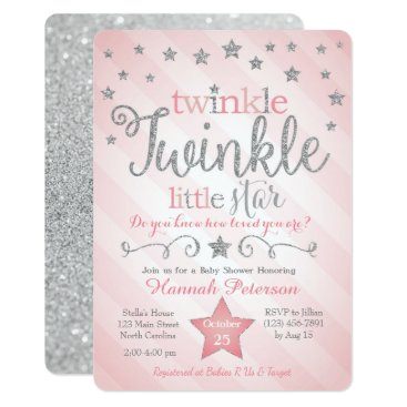 Toddler & Baby themed Twinkle Twinkle Little Star Baby Shower Invitation