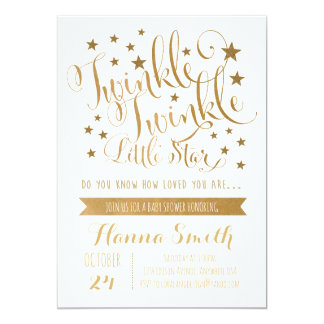 Twinkle Little Star Invitations & Announcements | Zazzle