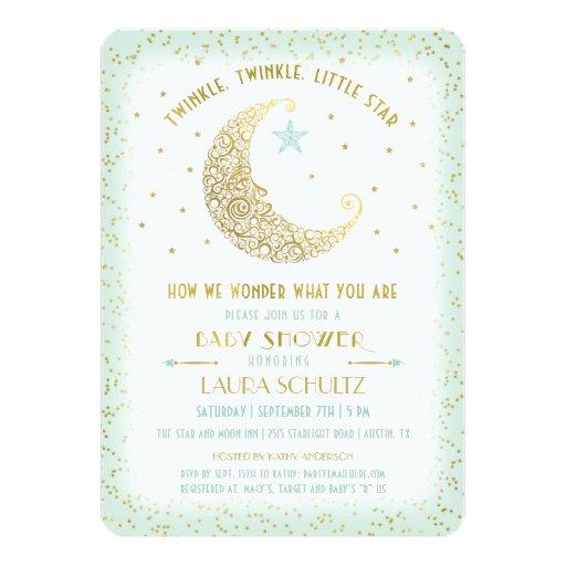 twinkle twinkle little star baby shower invitation zazzle