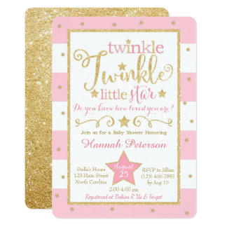twinkle little star invitations & announcements | zazzle, Baby shower invitations