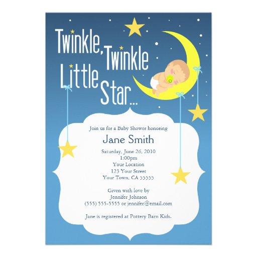 twinkle twinkle little star baby shower invite 5 x 7 invitation c