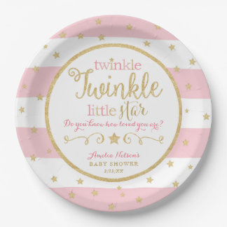 Superb Twinkle Twinkle Little Star Baby Shower Plates