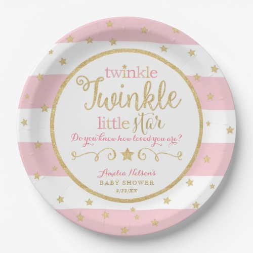 Twinkle Twinkle Little Star Baby Shower Plates
