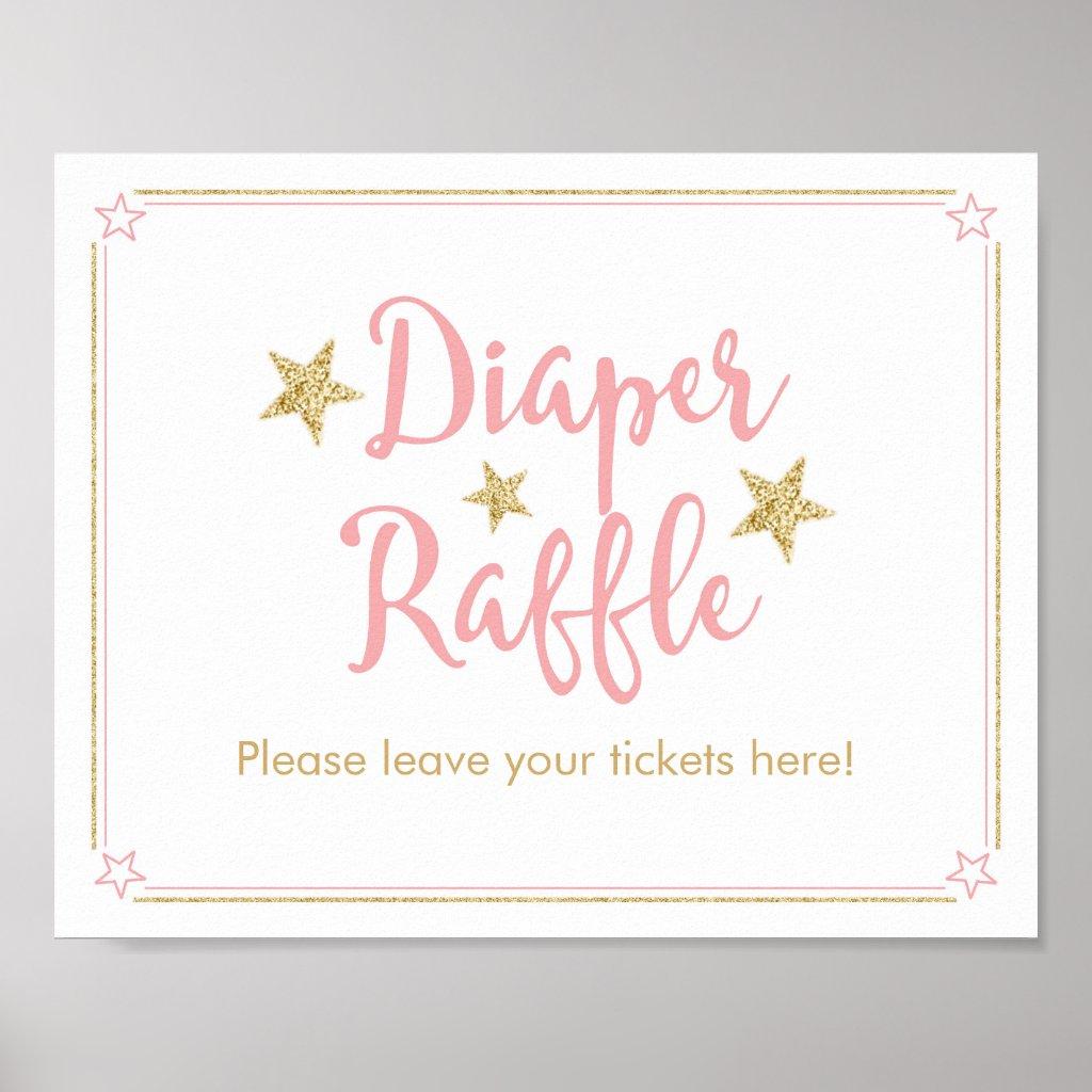 Twinkle Twinkle Little Star Baby Shower RaffleSign Poster