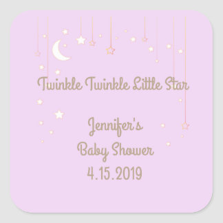 Twinkle Twinkle Little Star Baby Shower Stickers