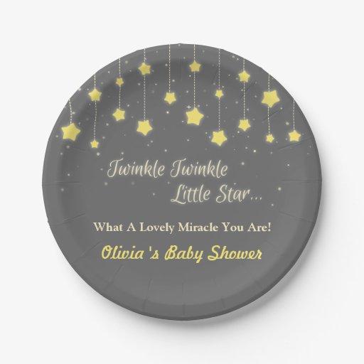 Twinkle Twinkle Little Star Baby Shower Supplies Paper Plate