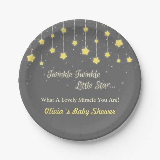 Twinkle Twinkle Little Star Baby Shower Supplies Paper Plate