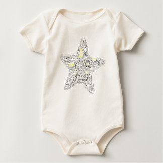 Twinkle Twinkle Little Star Baby Word Art Baby Bodysuit