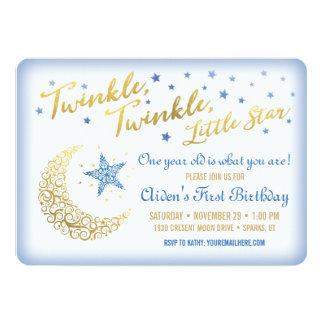 Twinkle Twinkle Little Star Birthday Invitation