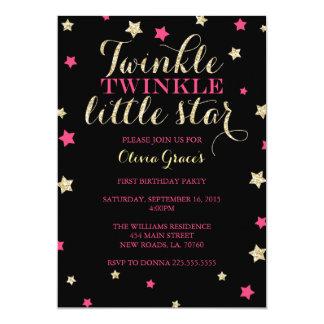 Twinkle Twinkle Little Star Birthday Invitations