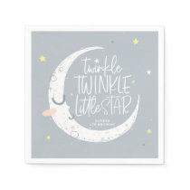 Twinkle, twinkle little star birthday party napkins