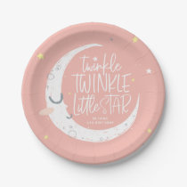 Twinkle, twinkle little star birthday party paper plate