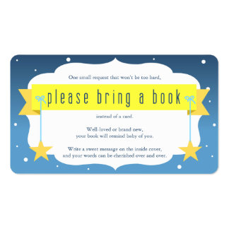Twinkle Twinkle Little Star Book Request Card Business Card