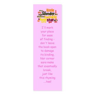 Twinkle, twinkle little star... bookmark mini business card