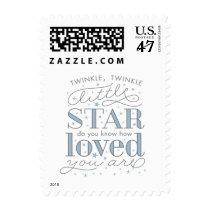 Twinkle Twinkle Little Star Boy Baby Shower Stamp