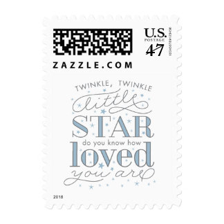 Twinkle Twinkle Little Star Boy Baby Shower Stamp