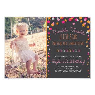 Twinkle Twinkle Little Star Chalkboard Birthday Card