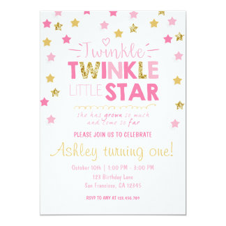 Twinkle Twinkle Little Star Invitations & Announcements | Zazzle