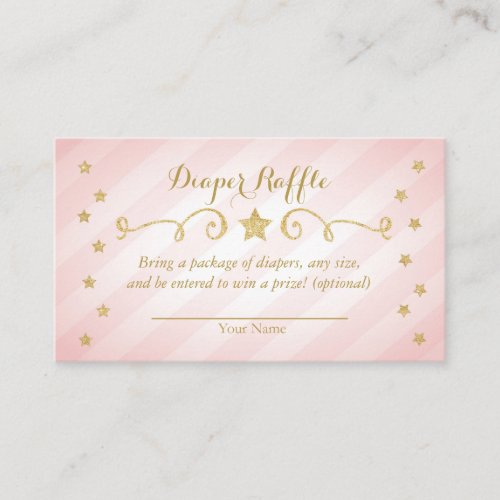 Twinkle Twinkle Little Star Diaper Raffle Card