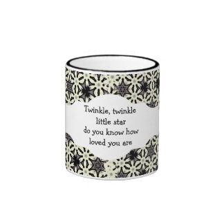 Twinkle, twinkle little star do you know how loved ringer mug