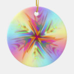 Twinkle Twinkle Little Star Double-Sided Ceramic Round Christmas Ornament