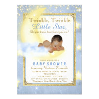 Twinkle Twinkle Little Star Ethnic Boy Baby Shower Card