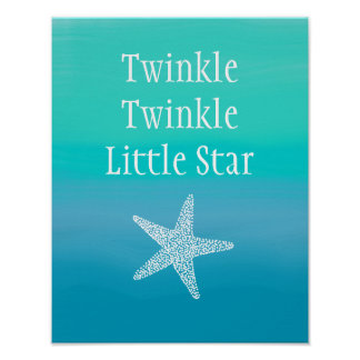 Twinkle Twinkle Little Star Fish (Ocean Beach) Poster