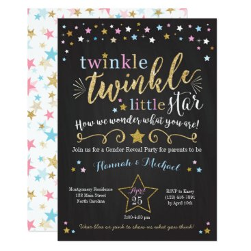 YourMainEvent Twinkle Twinkle Little Star Gender Reveal Invite