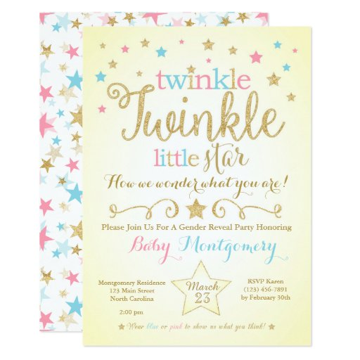 Baby Gender Reveal Party Invitations And Party Ideas