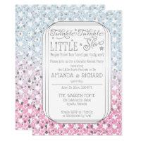 Twinkle Twinkle Little Star Gender Reveal Party Card
