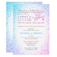 Twinkle Twinkle Little Star Gender Reveal Shower Card