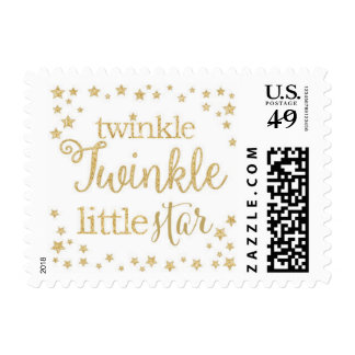 Twinkle Twinkle Little Star Gold Postage Stamp