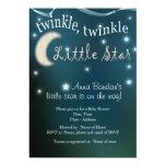 """Twinkle, twinkle, little star 5"""" x 7"""" invitation card"""