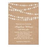 Twinkle Twinkle Little Star Invitation on Burlap