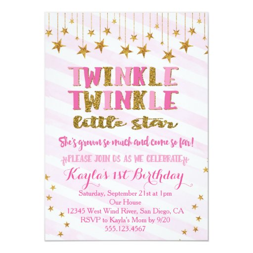 Pink And Gold Baby Shower Invites for nice invitations template