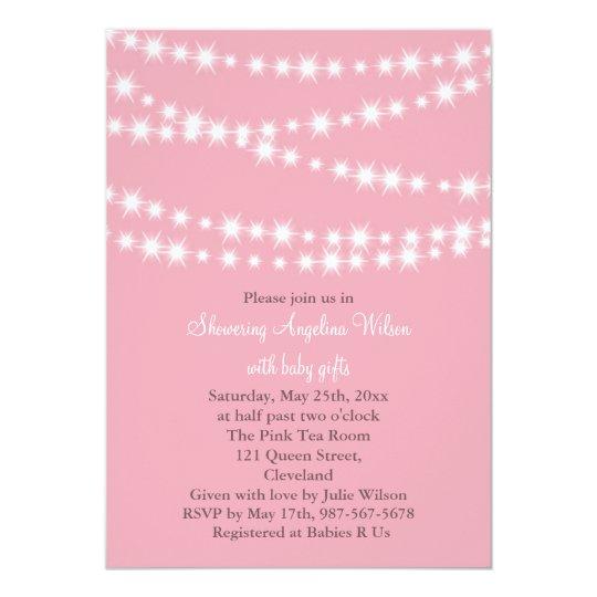 Twinkle Twinkle Little Star Invitation (pink)