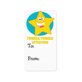 twinkle twinkle little star label