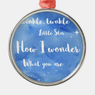 Twinkle Twinkle Little Star Metal Ornament