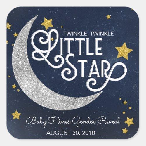 Twinkle Twinkle Little Star Moon Square Sticker