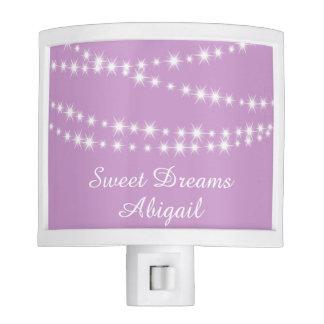 Twinkle Twinkle Little Star Night Light in purple