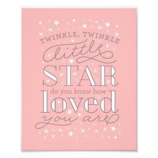 Twinkle Twinkle Little Star Nursery Art Print