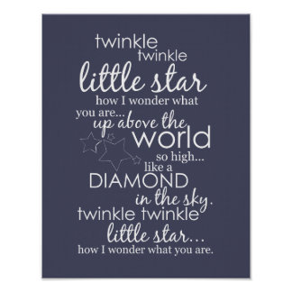 Twinkle Twinkle Little Star Poster