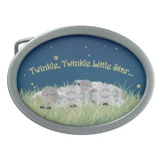 Twinkle Twinkle Little Star Sleeping Sheep Belt Buckle